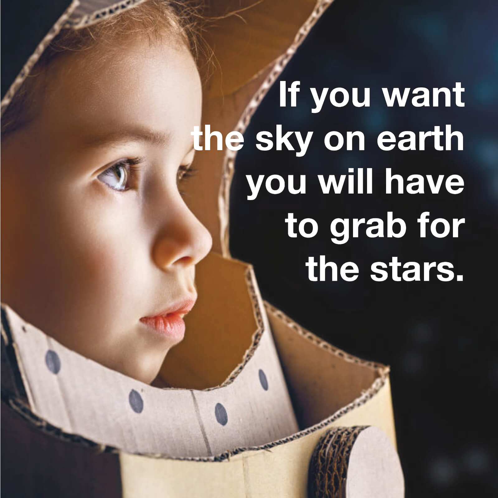 Get the stars in the sky. Grab your luck as a nanny.