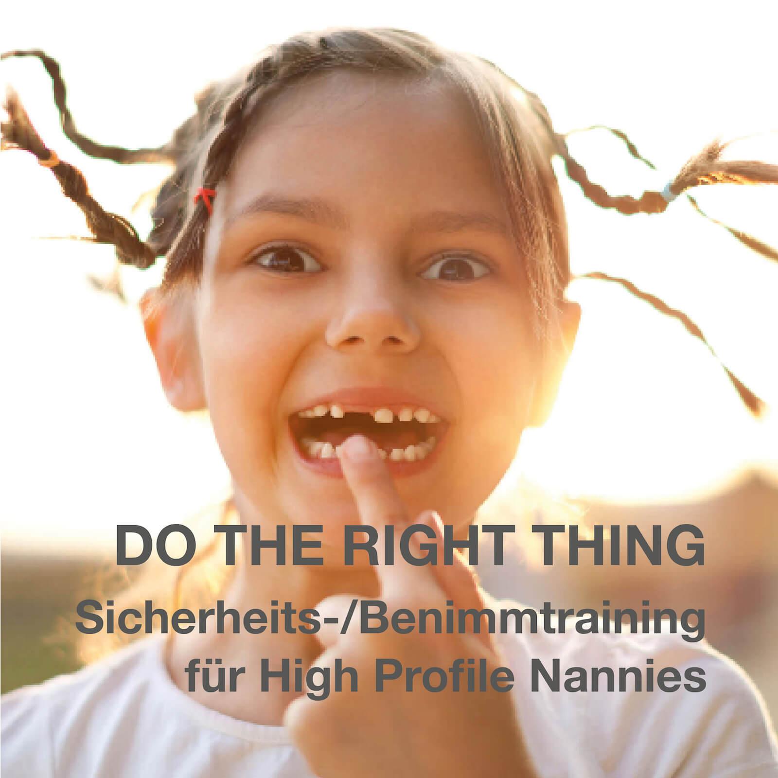 Sicherheitstraining/Benimmtraining für high profile Nannies im Privathaushalt.